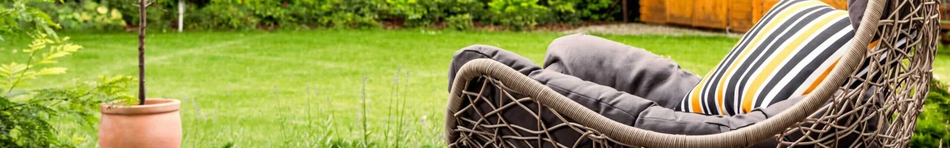 Hanging Chair In Garden Upholstery